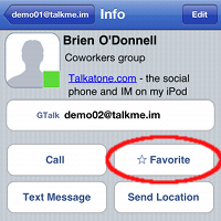 Add favorite contact