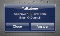 Incoming call popup iOS 4