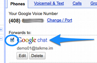 Forward your calls to Google Chat