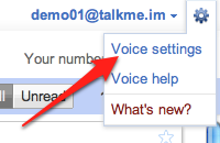 Go to Google Voice settings