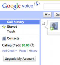 Upgrade Google Voice account